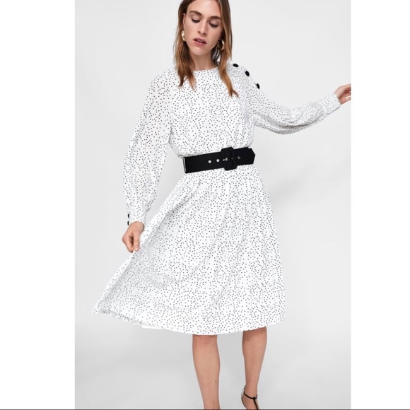 659c3774122 NWT Zara White Polka Dot Dress